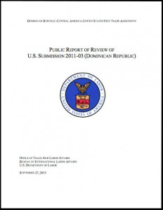 US Department of Labor Report on Dominican Republic